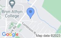 Map of Bryn Athyn PA