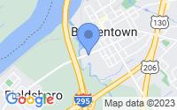 Map of Bordentown NJ