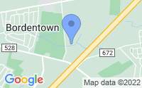Map of Chesterfield Township NJ