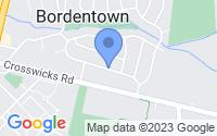 Map of Fieldsboro NJ