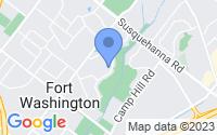 Map of Fort Washington PA