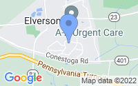 Map of Elverson PA