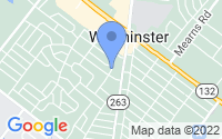 Map of Warminster PA