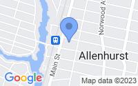 Map of Allenhurst NJ