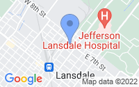 Map of Lansdale PA
