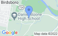 Map of Douglassville PA