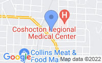 Map of Coshocton OH