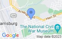 Map of Harrisburg PA