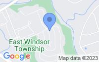 Map of East Windsor NJ