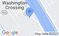 Map of Washington Crossing PA