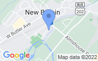 Map of New Britain PA