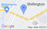 Map of Shillington PA