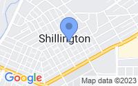 Map of Shillington PA
