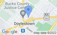 Map of Doylestown PA