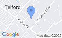 Map of Telford PA