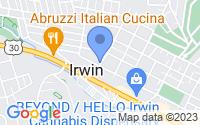 Map of Irwin PA
