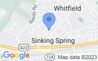 Map of Sinking Spring PA