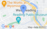 Map of West Reading PA