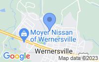 Map of Wernersville PA
