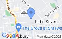 Map of Little Silver NJ