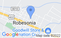 Map of Robesonia PA