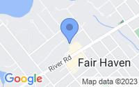 Map of Fair Haven NJ