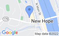 Map of New Hope PA