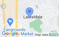 Map of Laureldale PA