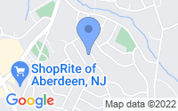 Map of Aberdeen Township NJ