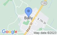 Map of Bally PA