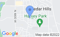 Map of Cedar Hills UT