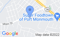 Map of Port Monmouth NJ