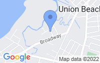 Map of Union Beach NJ