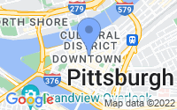 Map of Pittsburgh PA