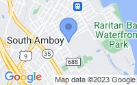 Map of South Amboy NJ