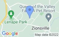 Map of Zionsville PA