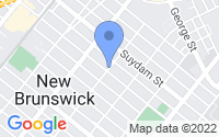Map of New Brunswick NJ