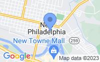 Map of New Philadelphia OH