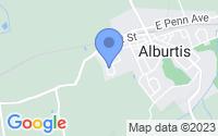 Map of Alburtis PA
