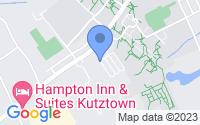 Map of Kutztown PA