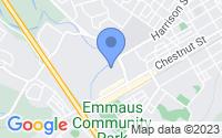 Map of Emmaus PA