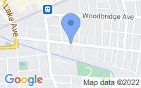 Map of Metuchen NJ