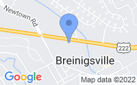 Map of Breinigsville PA