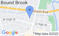 Map of Bound Brook NJ
