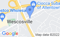 Map of Allentown PA