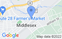 Map of Middlesex NJ