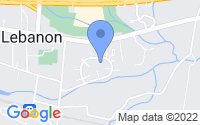 Map of Lebanon NJ