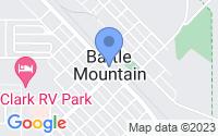 Map of Battle Mountain NV