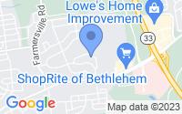 Map of Bethlehem PA