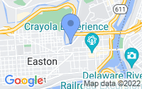 Map of Easton PA